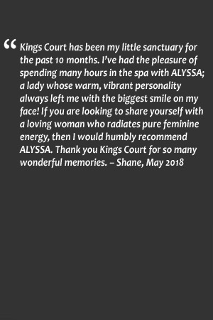 Kings Court Massage - Alyssa Testimonial