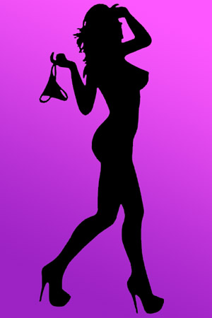 Kings Court Massage - Sexy Silhouette Naked Girl